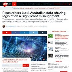 Researchers label Australian data-sharing legislation a 'significant misalignment'