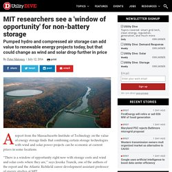 MIT researchers see a 'window of opportunity' for non-battery storage