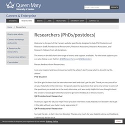QMUL Researchers (PhDs/postdocs)
