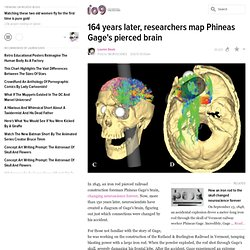 Researchers map Phineas Gage's pierced brain