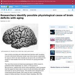 Researchers identify possible physiological cause of brain deficits with aging