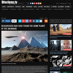 Researchers May Have Found The Home Planet Of The Anunnaki