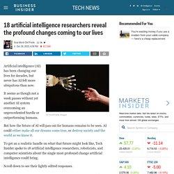 18 researchers predict the future of AI