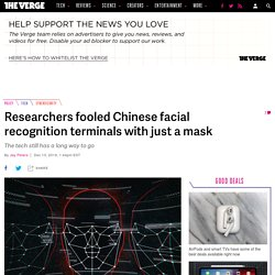 Researchers fooled Chinese facial recognition terminals with just a mask