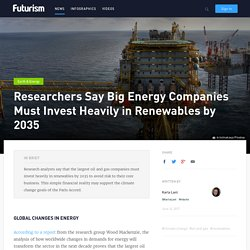 Researchers Say Big Energy Companies Must Invest Heavily in Renewables by 2035