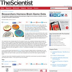 Researchers Harness Brain Game Data
