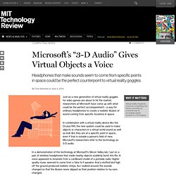 "Microsoft Researchers' ""3-D Audio"" System Is Like Oculus Rift for Your Ears"