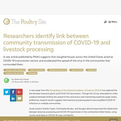 PIGSITE 23/11/20 Researchers identify link between community transmission of COVID-19 and livestock processing