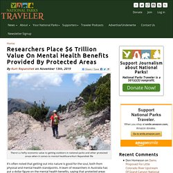 Researchers Place $6 Trillion Value On Mental Health Benefits Provided By Protected Areas