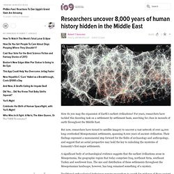 Researchers uncover 8,000 years of human history hidden in the Middle East