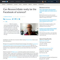 Can ResearchGate really be the Facebook of science? — European technology news