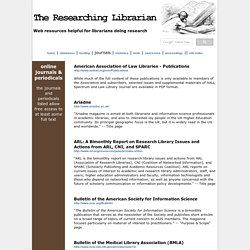 The Researching Librarian: Online Journals