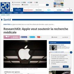 ResearchKit: Apple veut soutenir la recherche médicale