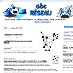 Les bases pour comprendre et créer un réseau local: Mesh ou réseau maillé