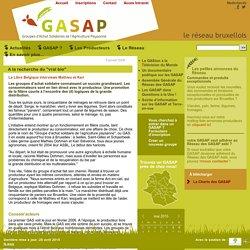 """réseau des GASAP Bruxellois : A la recherche du """"vrai bio"""""""
