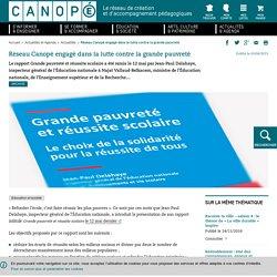 Réseau Canopé engagé dans la lutte contre la grande pauvreté