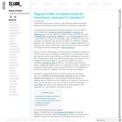 Elgg pour bâtir un réseau social de chercheurs : pourquoi ? comment ?