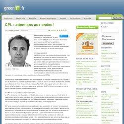 réseau › CPL : attentions aux ondes