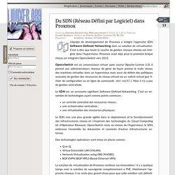 Du SDN (Réseau Défini par Logiciel) dans Proxmox