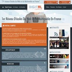 1er réseau d'écoles du Web et du Multimédia en France