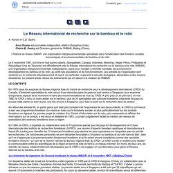 Le Réseau international de recherche sur le bambou et le rotin