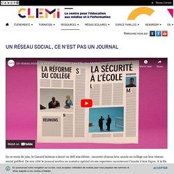 Un réseau social, pas un journal- CLEMI