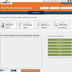 Le réseautage social en langage simple