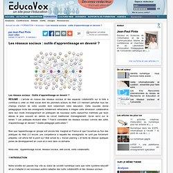 Les réseaux sociaux : outils d'apprentissage en devenir ?