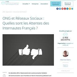 ONG et réseaux sociaux : Les attentes des internautes