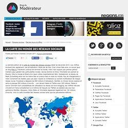 La carte du monde des réseaux sociaux