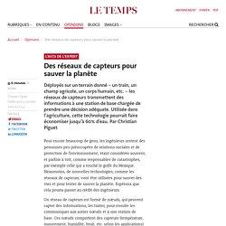 LE TEMPS 04/10/10 Des réseaux de capteurs pour sauver la planète