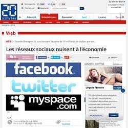 Les réseaux sociaux nuisent à l'économie
