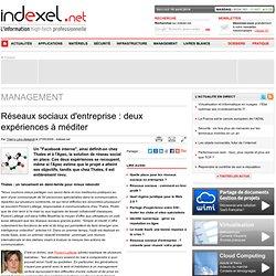 Réseaux sociaux d'entreprise : deux expériences à méditer