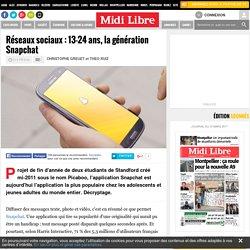 Réseaux sociaux : 13-24 ans, la génération Snapchat