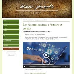 » Les réseaux sociaux : histoire et enjeux - histoire-géographie