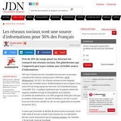 Les réseaux sociaux sont une source d'informations pour 30% des Français