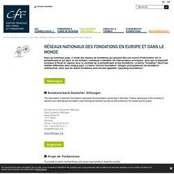 Réseaux nationaux des fondations en Europe et dans le Monde