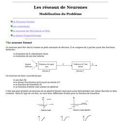 Les reseaux de neurones Modélisation