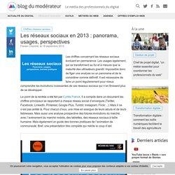 Les réseaux sociaux en 2013 : panorama, usages, perspectives