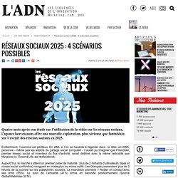 Réseaux sociaux 2025 : 4 scénarios possibles - MEDIA MEDIUM