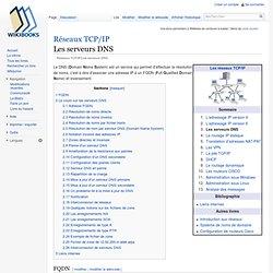 Réseaux TCP/IP/Les serveurs DNS