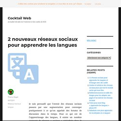 réseaux sociaux pour apprendre les langues