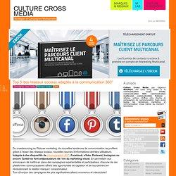 Top 5 des réseaux sociaux adaptés à la communication 360°