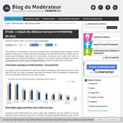 Étude : l'usage des réseaux sociaux d'entreprise en 2015