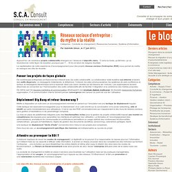 S.C.A. Consult » Réseaux sociaux d'entreprise : du mythe à la réalité
