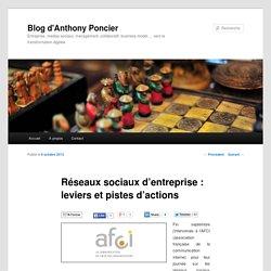 Réseaux sociaux d'entreprise : leviers et pistes d'actions