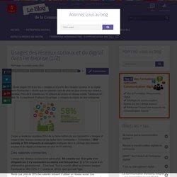 Usages des réseaux sociaux et du digital dans l'entreprise (1/2)