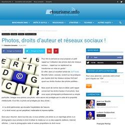 Photos, droits d'auteur et réseaux sociaux !