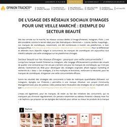 Veille marché sur les réseaux sociaux d'images : exemple du secteur beauté