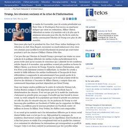 11/2016 Trump, les réseaux sociaux et la crise de l'information